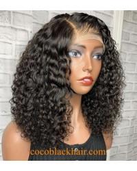 Emily64- bomb Deep wave pre plucked Brazilian virgin 360 wig