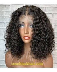 Angela 09-5x5 HD lace closure wig bomb deep wave 10A grade Brazilian virgin human hair 150% density