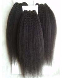 Chinese virgin ITALIAN YAKI human hair wefts 3 bundles