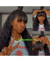 Clip on bangs See-through bangs Virgin human hair