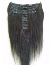 Brazilian virgin silky straight Clips in hair extensions