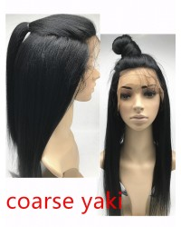 Chloe- Chinese virgin Coarse Yaki full lace wig