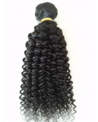 virgin hair curly machine weft