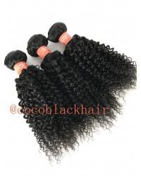 Brazilian virgin 3 bundles curly hair weaves