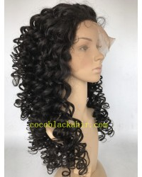 Martina- Indian remy Deep Curl Human Hair Full Lace Wig