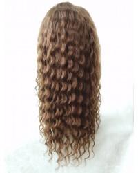 Myra- Burmese virgin 12mm curly silk top full lace wig