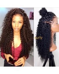 Nilda-Brazilian virgin exotic curly lace front wig