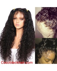 Emily09- Brazilian virgin curly wave 360 lace frontal wig