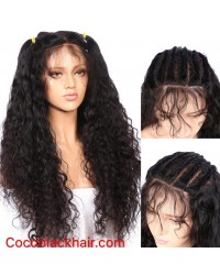 Emily- Brazilian virgin curly wave 360 lace frontal wig