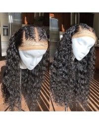 Eric-Brazilian virgin pre plucked deep curly full lace wig