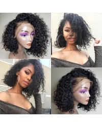 Emily27-Pre plucked Brazilian virgin deep curly bob 360 wig