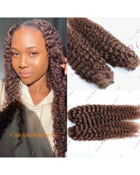 Brazilian virgin Deep curly Clips in hair extensions