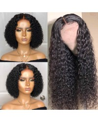 Gisele-Brazilian virgin deep curly closure wig