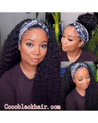 Rudy 06-Headband wigs deep curly Brazilian virgin human hair 150% density