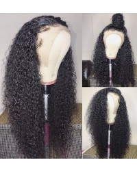 Marie-Brazilian virgin deep curly lace front wig