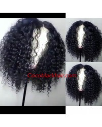 Crystal- Brazilian virgin deep curly full lace wig
