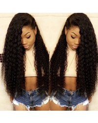 Emily22-Brazilian virgin deep wave 360 lace frontal wig