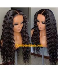 Angela 06-5x5 HD lace closure wig Deep Wave 10A grade Brazilian virgin human hair