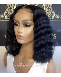 【50% Off】Emily79-pre plucked deep wave BOB 360 wig 9A grade Brazilian virgin human hair