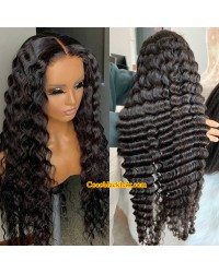 Nova 03-Deep wave Brazilian virgin 13x6 wig glueless lace front Pre plucked hairline