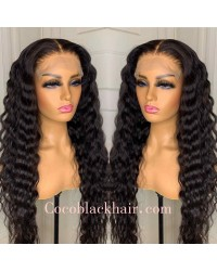 Nova 03-Deep wave Brazilian virgin 13x6 wig glueless lace front Pre plucked hairline