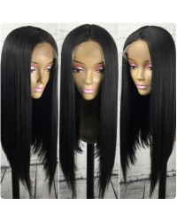 Emily21-Pre plucked Brazilian virgin silky straight bob 360 frontal wig