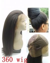 Emily- kinky straight/ Italian yaki 360 lace frontal wig