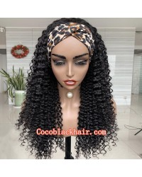 Rudy 11-Headband wigs exotic curly Brazilian virgin human hair 150% density