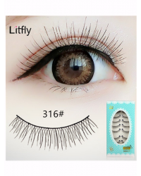 10 pairs Natural long false eyelash-#316
