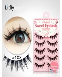 5 pairs Manual thick false eyelash-#108