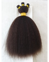 Indian remy kinky straight hand tied wefts