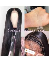 Lala-HD 370 wig pre plucked Brazilian virgin human hair