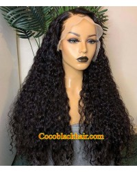 【50% Off】Laila-HD Lace 13x6 Wig Deep Curly Brazilian human hair glueless lace front wig Pre plucked