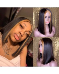 BOB09-Brazilian virgin highlight bob glueless lace front wig