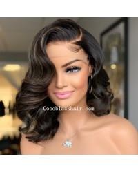 Angela 39- 5x5 HD lace closure wig Highlights wave bob