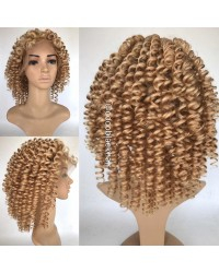 Kanny-Chinese virgin ombre curly hair full lace wig