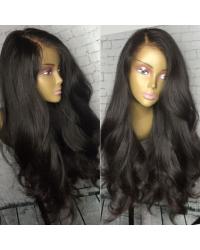 Aysha-Brazilian virgin loose wave 180% density glueless full lace wig