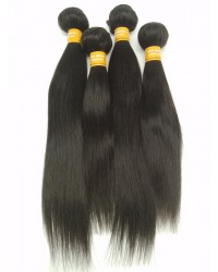 Indian virgin 4 bundles silky straight hair weaves