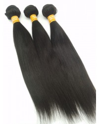 Indian virgin 3 bundles silky straight hair weaves