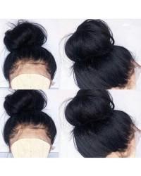 Jacky-Brazilian virgin pre plucked Italian yaki full lace wig