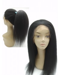 Janis- Italian yaki glueless lace front wig