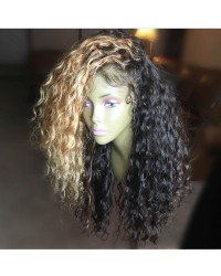 Jennifer- Brazilian virgin pre plucked Ombre curly full lace wig