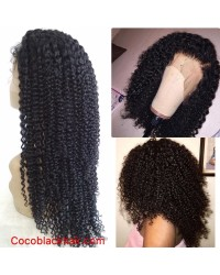 Alba- Indian virgin jerry curl full lace wig