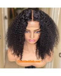 Nova 09-Kinky curls Brazilian virgin 13x6 wig glueless lace front Pre plucked