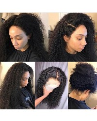 Amy-Brazilian virgin deep curly full lace wig