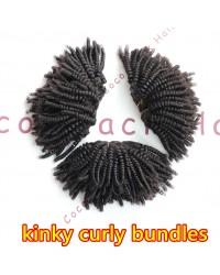 kinky curly bundles Brazilian virgin human hair 3 wefts