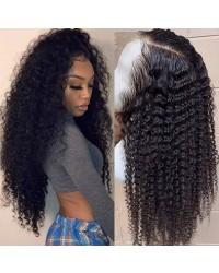 Trecy-Brazilian virgin kinky cury pre plucked full lace wig