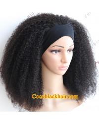 Rudy 04-Headband wigs kinky curly Brazilian virgin human hair