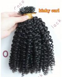 Tips extension 10A grade microlinks Brazilian virgin human hair