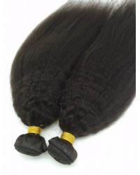 virgin human hair kinkly straight wefts